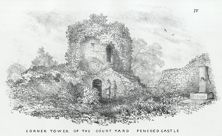 Corner Tower of the Court Yard, Pencoed Castle