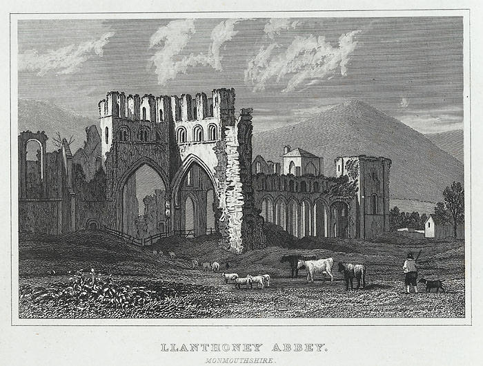 Llanthoney abbey, Monmouthshire