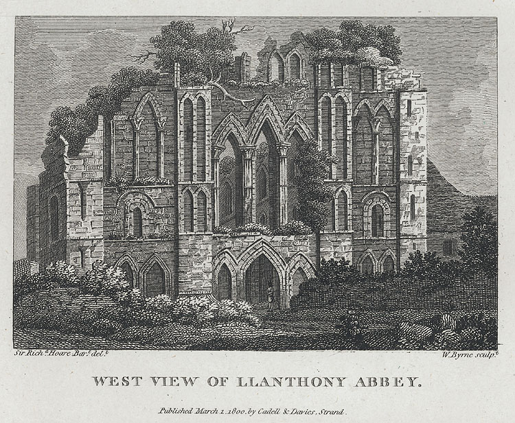 West View of LLanthony Abbey
