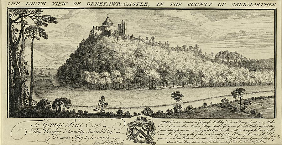 The south view of Denefawr-Castle, in the county of Caermarthen