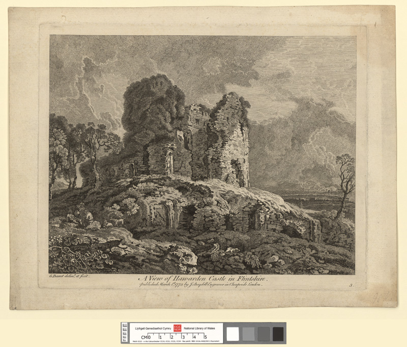 A View of Hawarden Castle in Flintshire