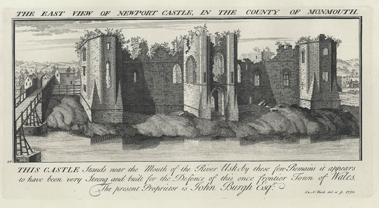 The East View Of Newport Castle, In The County Of Monmouth
