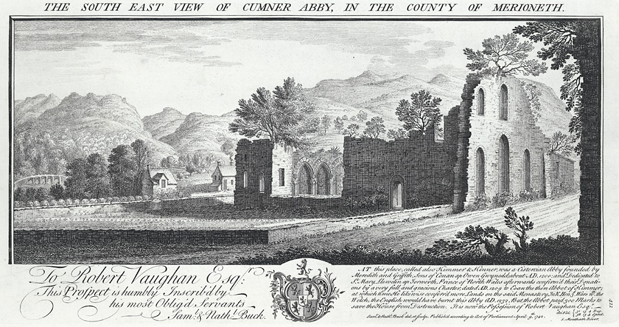 The South East View Of Cumner Abby, In The County Of Merioneth