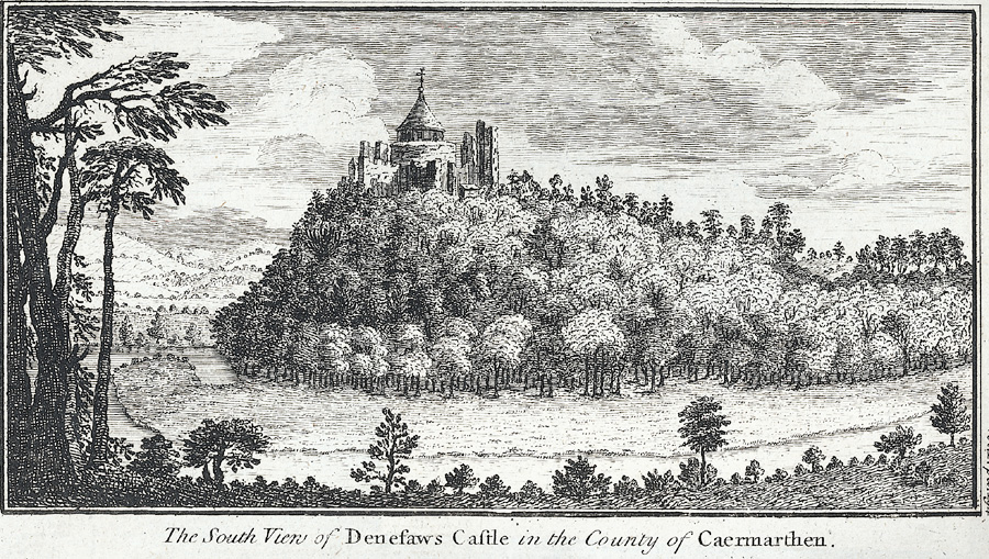 The South Vew of Denefaws Castle in the County of Caermarthen