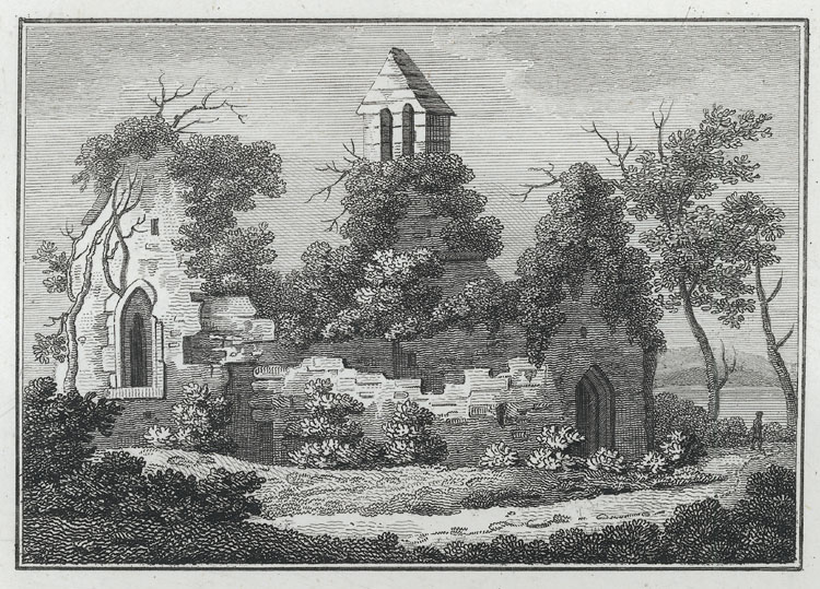 [Sudbrook Chapel & the Keep off Caldicot Castle]