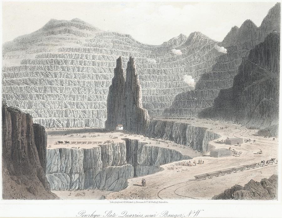 Penrhyn Slate Quarries near Bangor, N.W