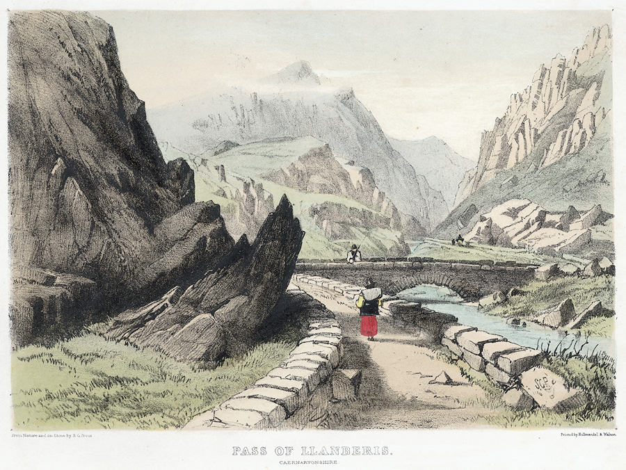 Pass of Llanberis. Caernarvonshire