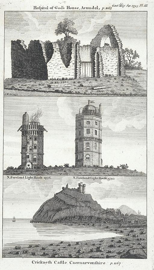 Crickaeth Castle, Caernarvonshire. (p.1167)