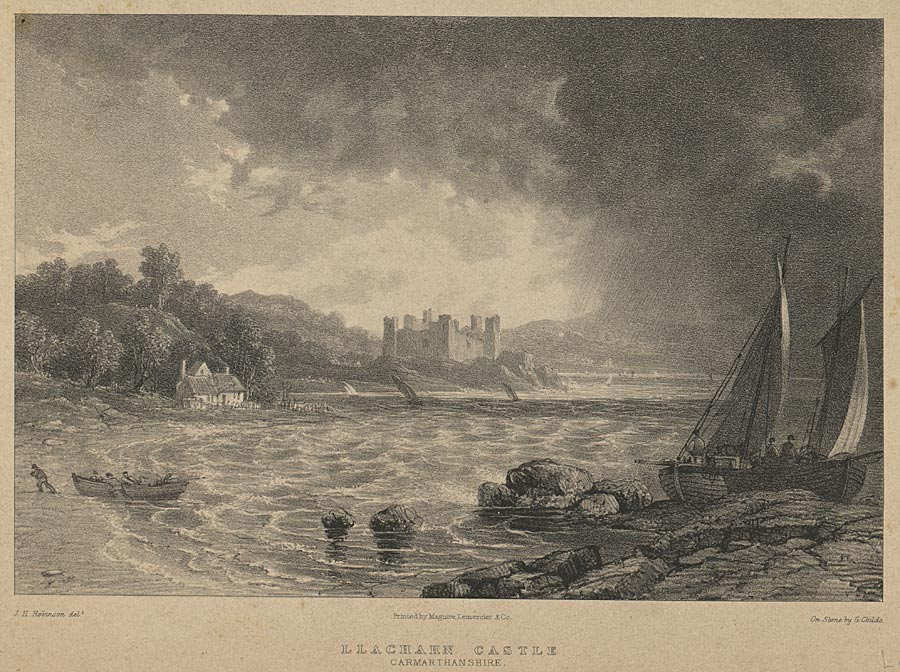Llacharn Castle, Carmarthenshire