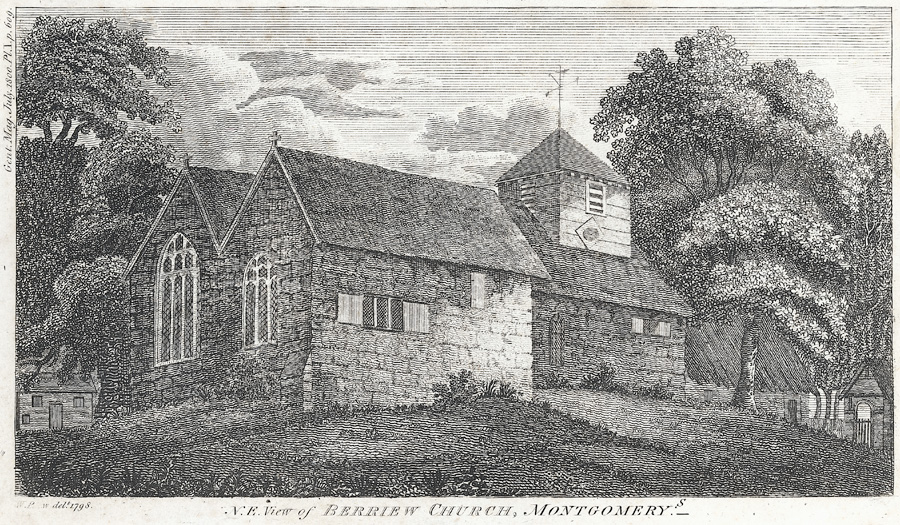N. E. View of Berriew Church, Montgomery