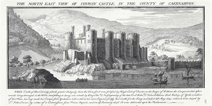 The north east view of Conway Castle in the county of Caernarvon