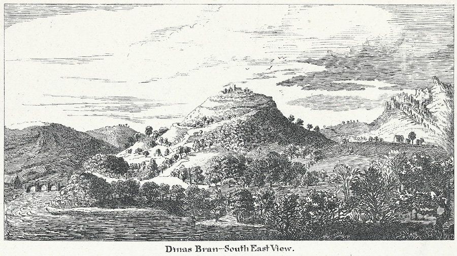 Dinas Bran - south east view