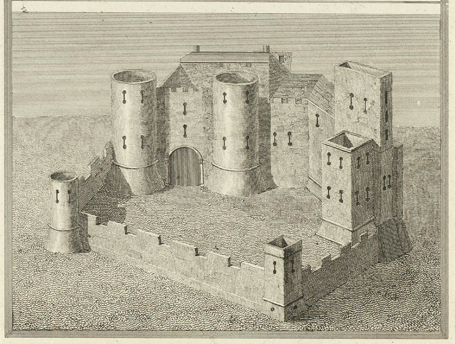 Crickhowel Castle. From a Survey in the beginning of the 6th Cent