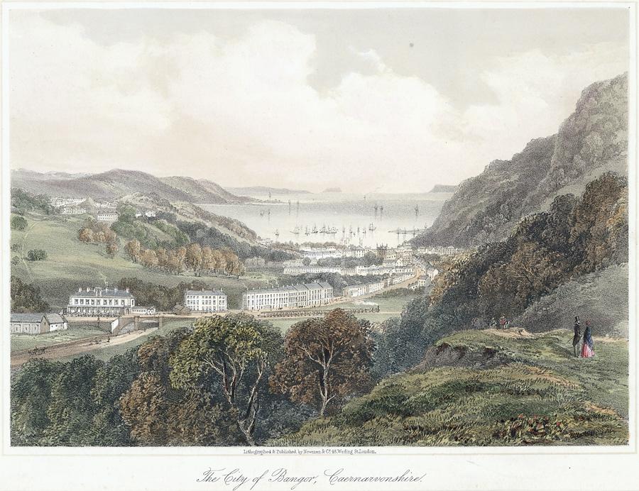 The city of Bangor, Caernarvonshire