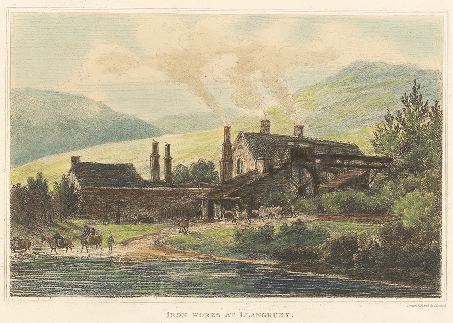 Iron works at Llangruny