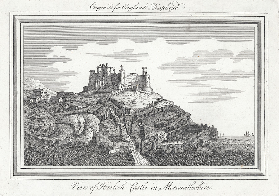 View of Harlech Castle in Merionethshire