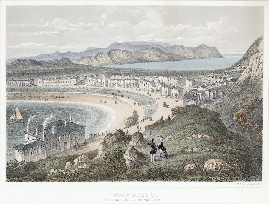 Llandudno, from the hill behind the baths