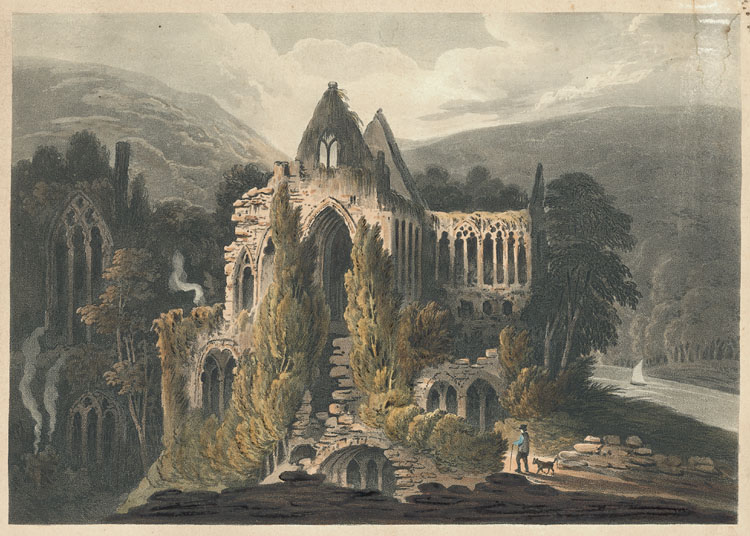 [Tintern Abbey, South East View.]