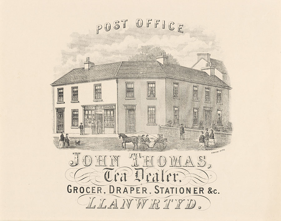 Post Office, Llanwrtyd. John Thomas, Tea Dealer