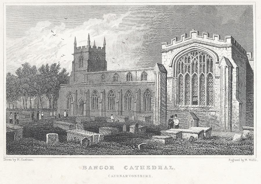 Bangor Cathedral. Caernarvonshire