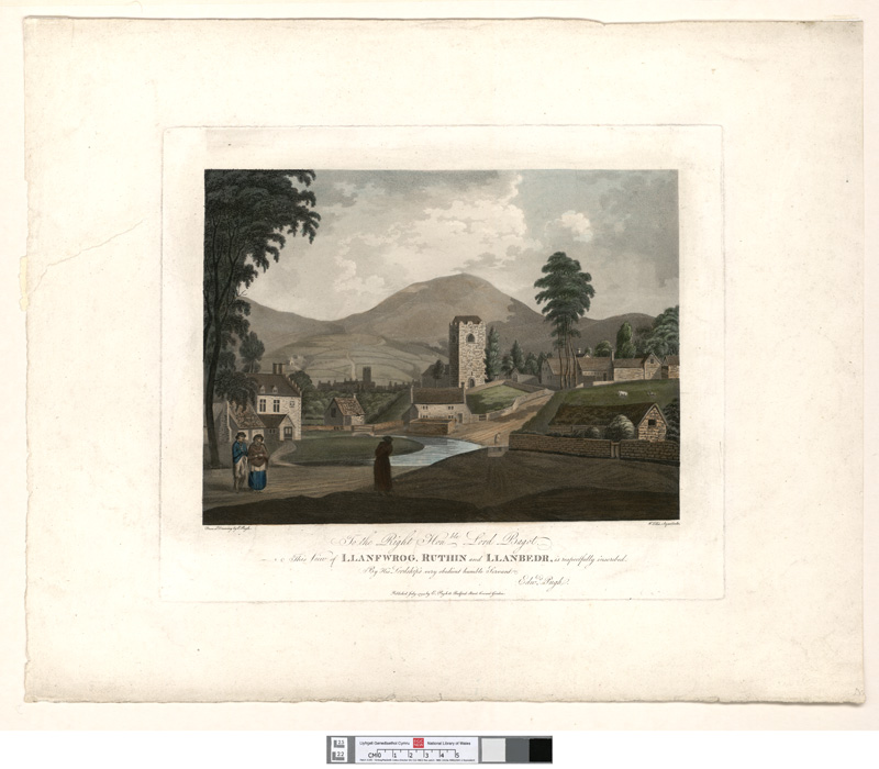 View of Llanfwrog, Ruthin and Llanbedr