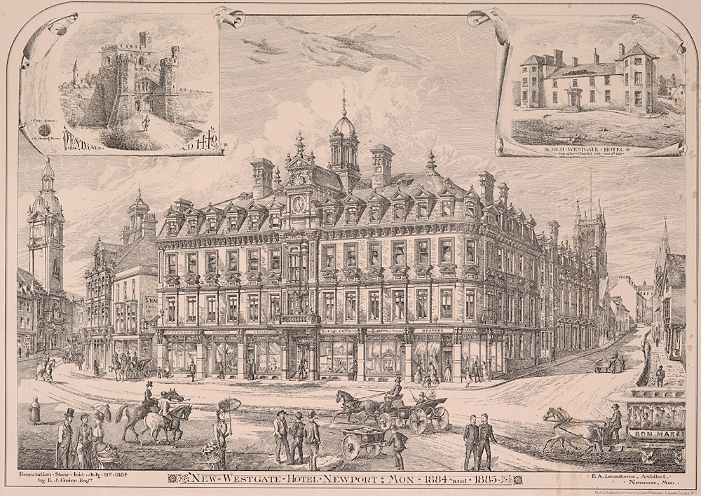New Westgate Hotel, Newport, Mon. 1884 and 1885