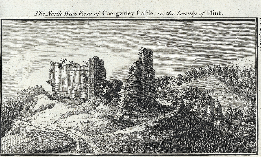 The North West View of Caergwrley Castle, in the County of Flint