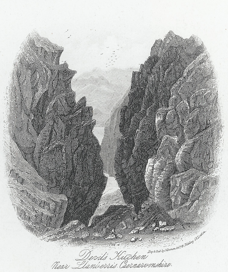 Devils' Kitchen, near Llanberis, Caernarvonshire