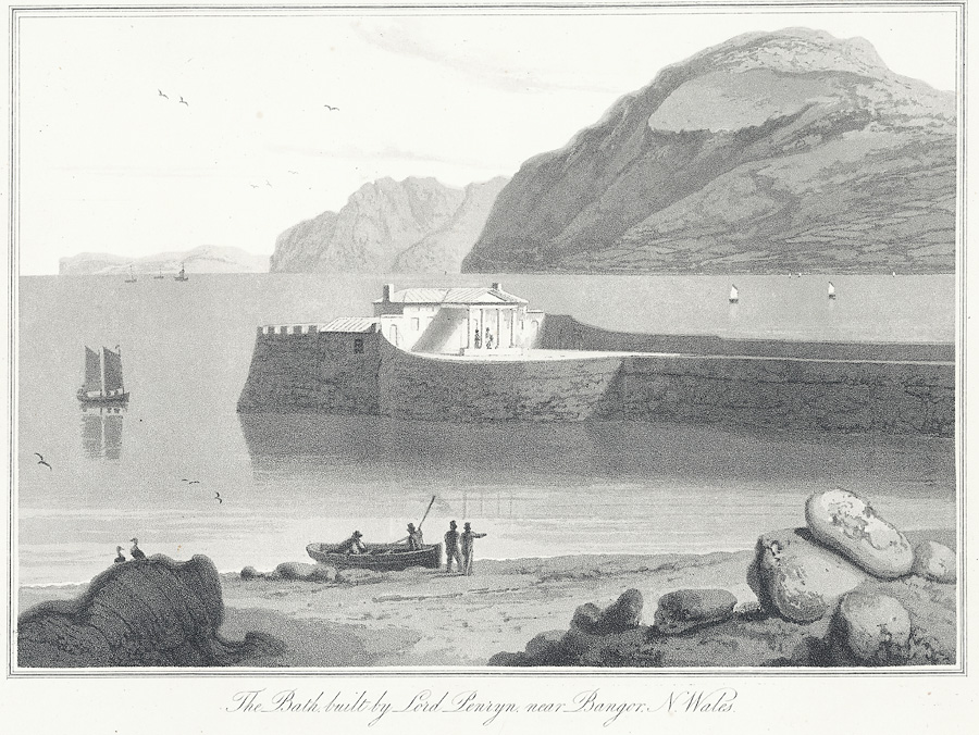 The bath, built by Lord Penrhyn, near Bangor, N. Wales