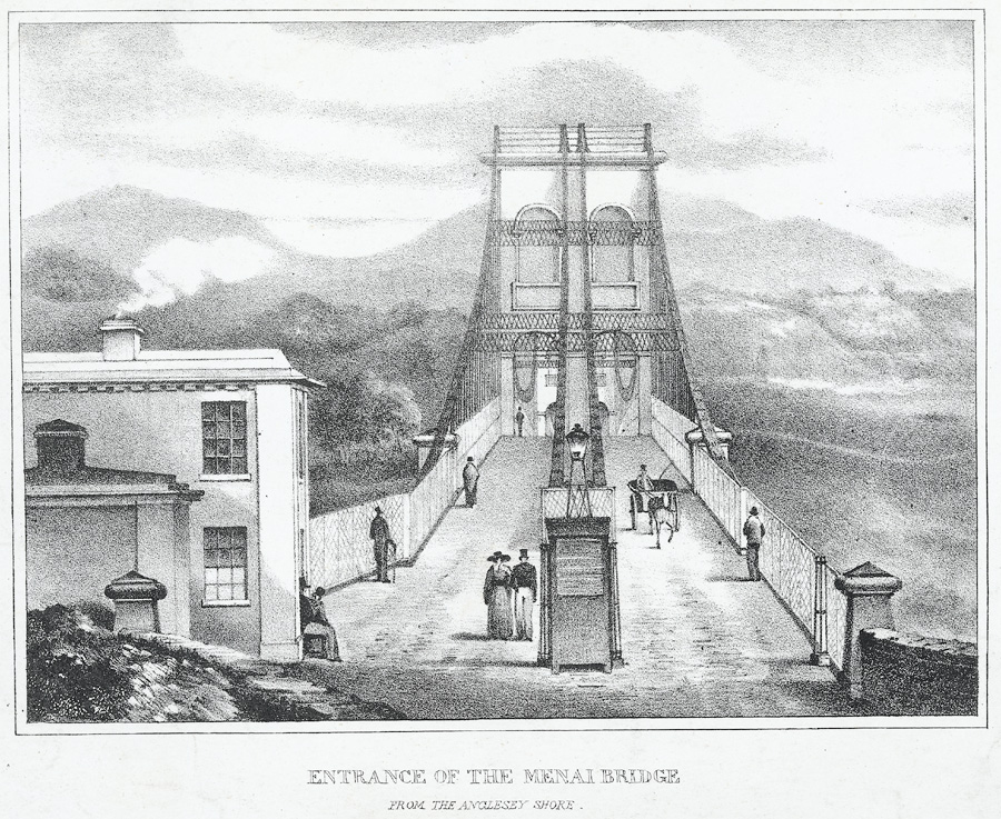 Entrance of the Menai bridge