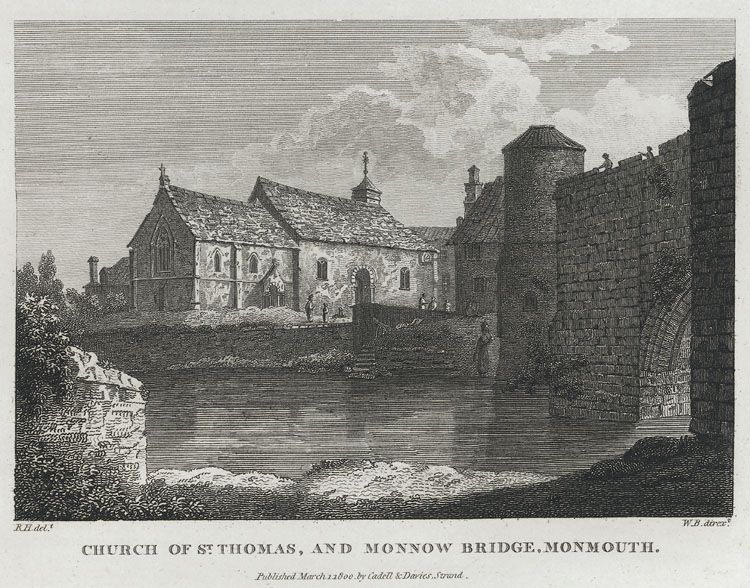 Church of St. Thomas, and Monnow Bridge, Monmouth