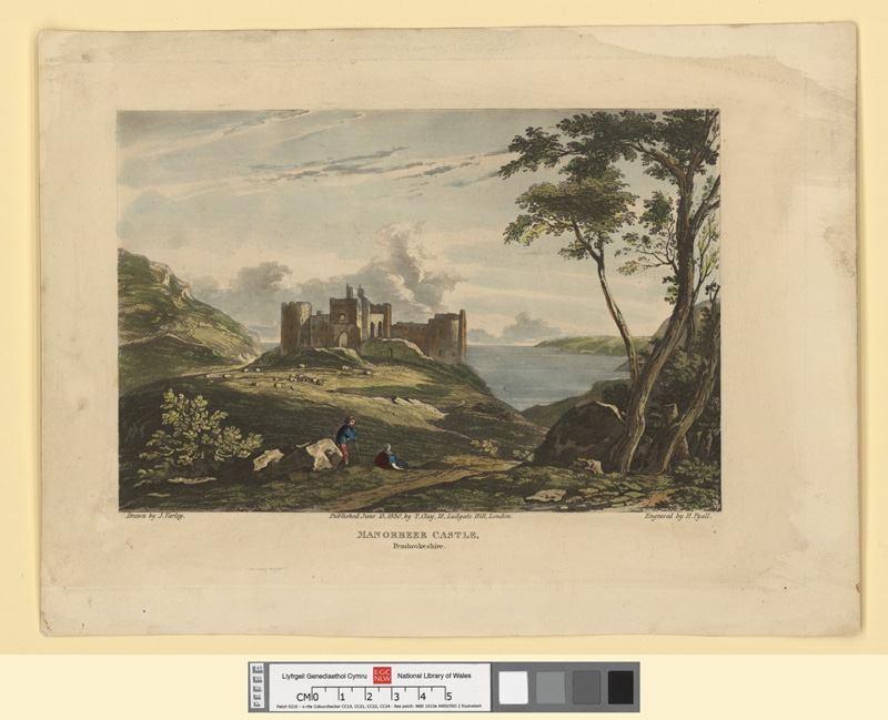 Manorbeer Castle, Pembrokeshire June 15 1830