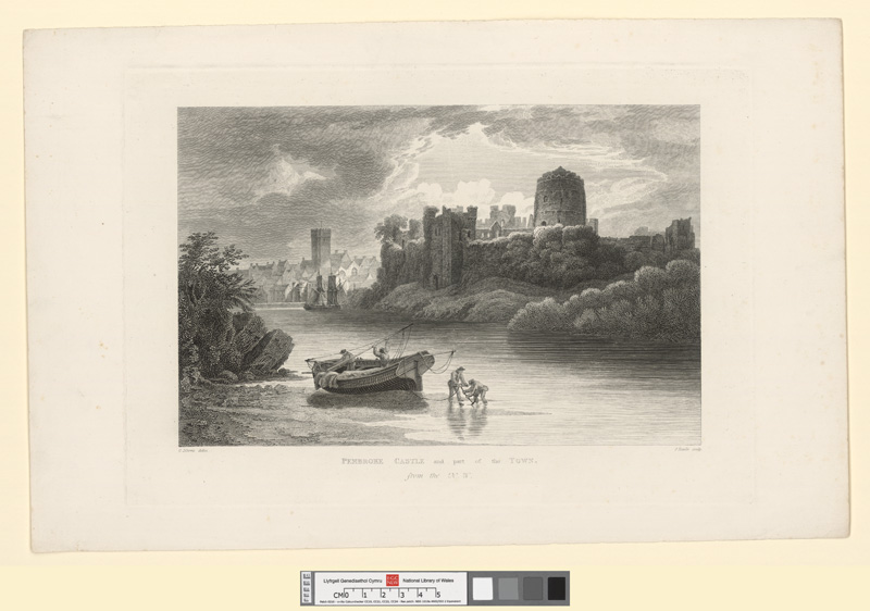 Pembroke castle and part of the town