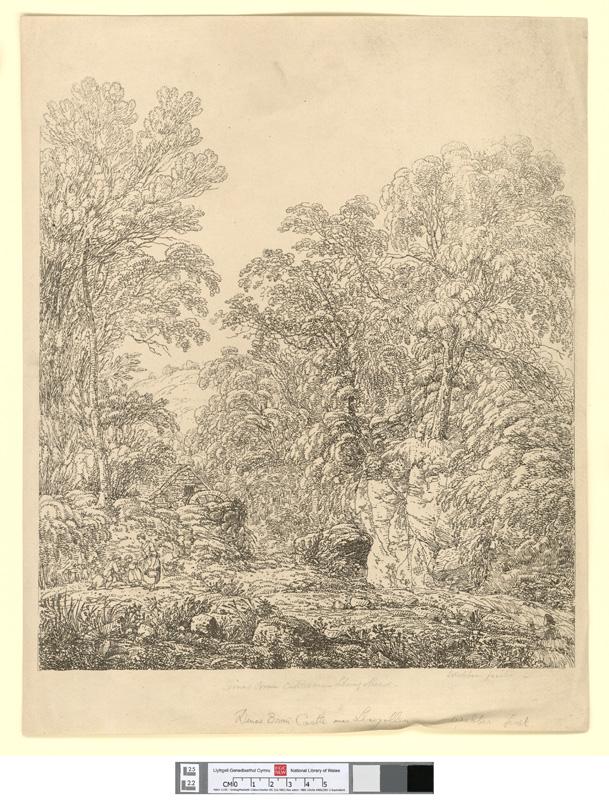 [Dinas Bran Castle near Llangollen]