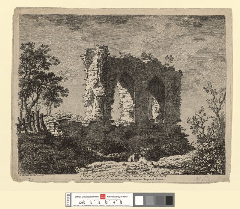 A View of part of Hawarden Castle in Flintshire
