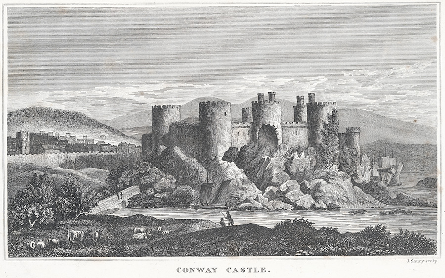 Conway Castle. Fortification. Twelfth Century