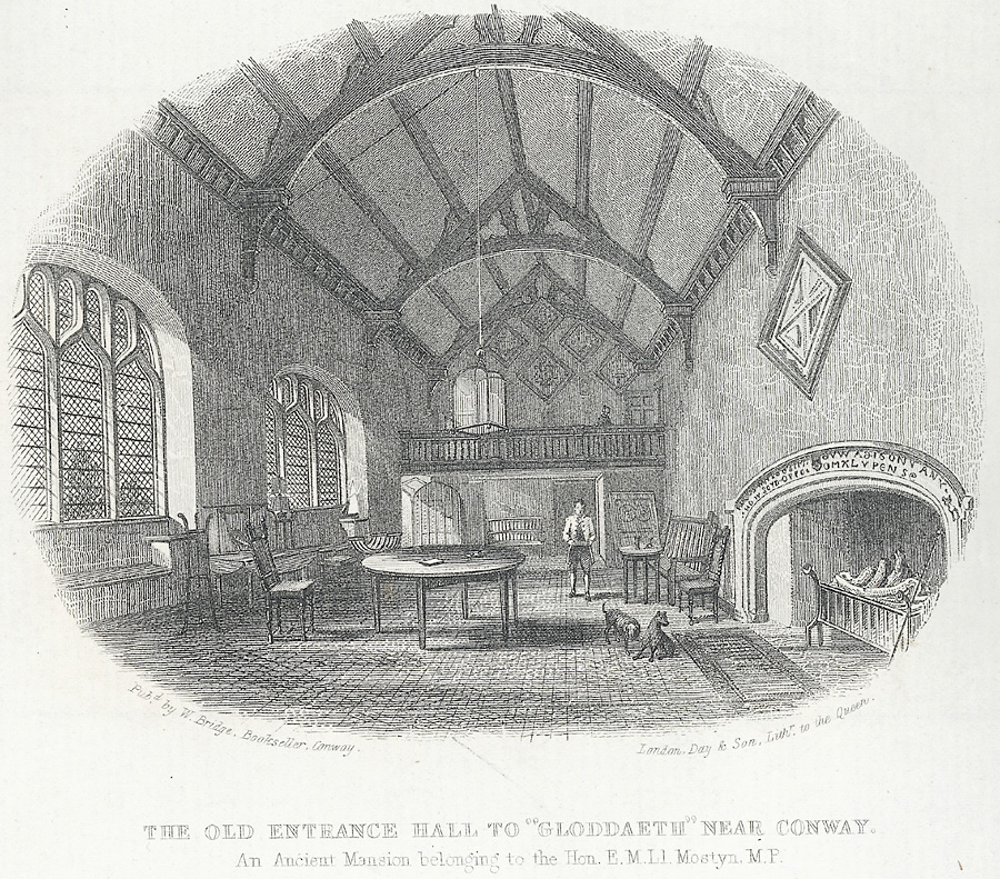 "The old entrance hall to ""Gloddaeth"" near Conway"