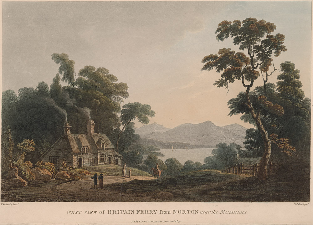 West view of Britain Ferry from Norton near the Mumbles