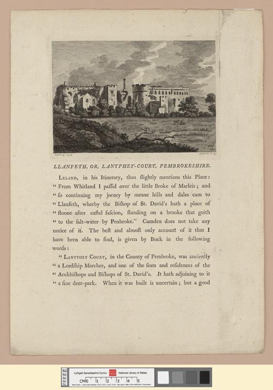 Llanfeth, or Lantphey Court, Pembrokeshire April 27 1774