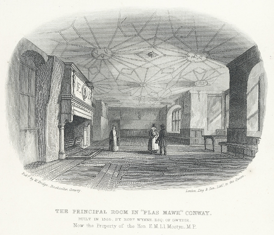 "The principal room in ""Plas Mawr"" Conway"
