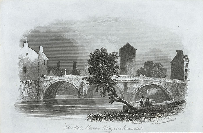 The old Monnow bridge, Monmouth