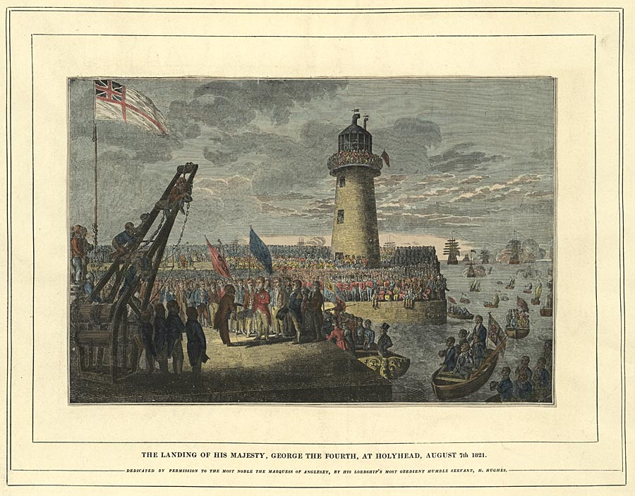 The landing of his Majesty, George the Fourth, at Holyhead, August 7th 1821