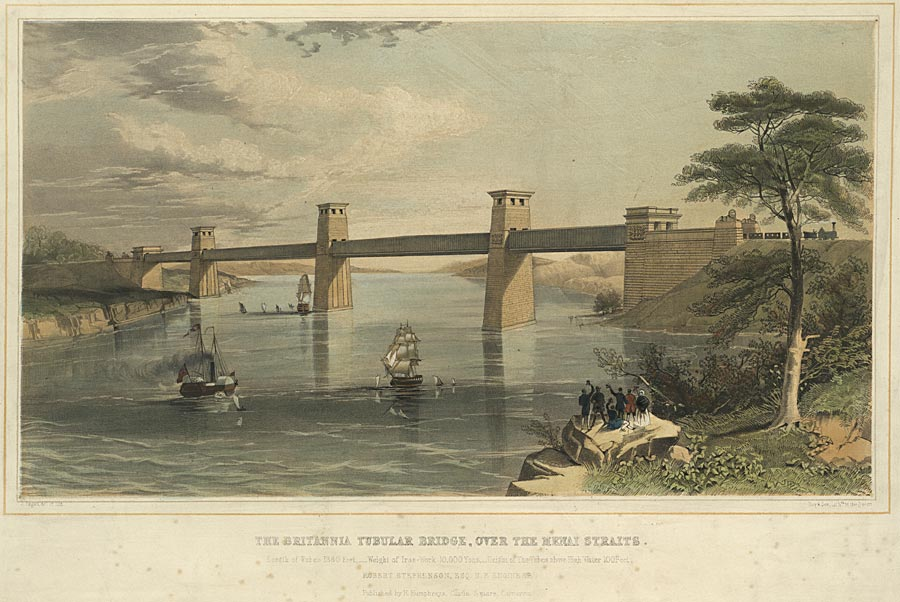 The Britannia Tubular Bridge, over the Menai Straits