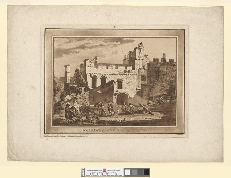 Manerbawr Castle, from the inward court Sepr 1st 1775