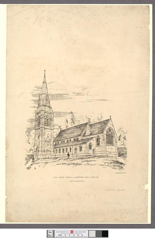 New parish church, Lampeter-Pont-Stephen, Cardiganshire