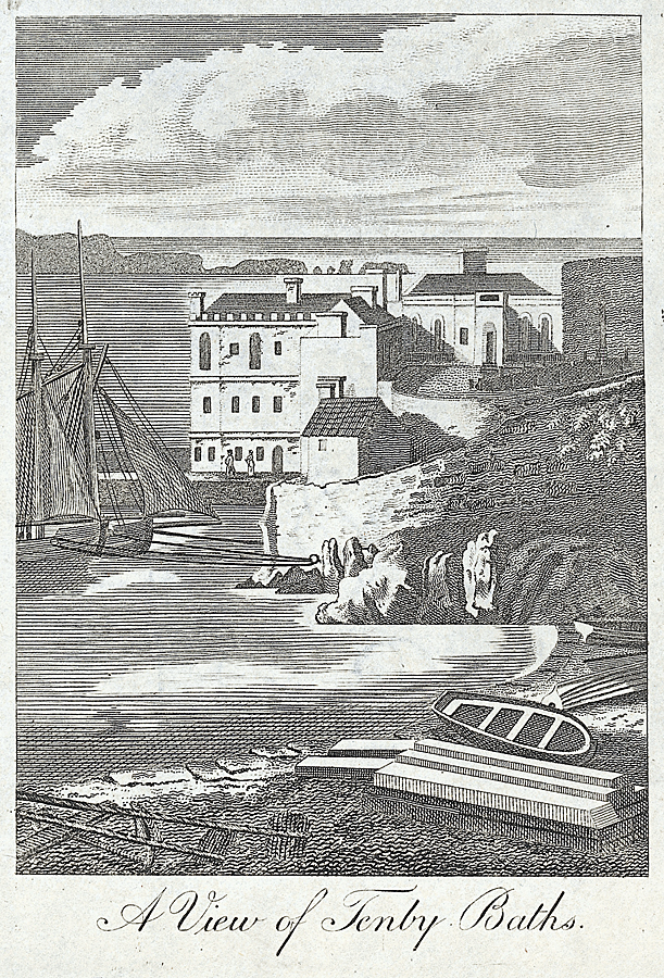 A view of Tenby baths