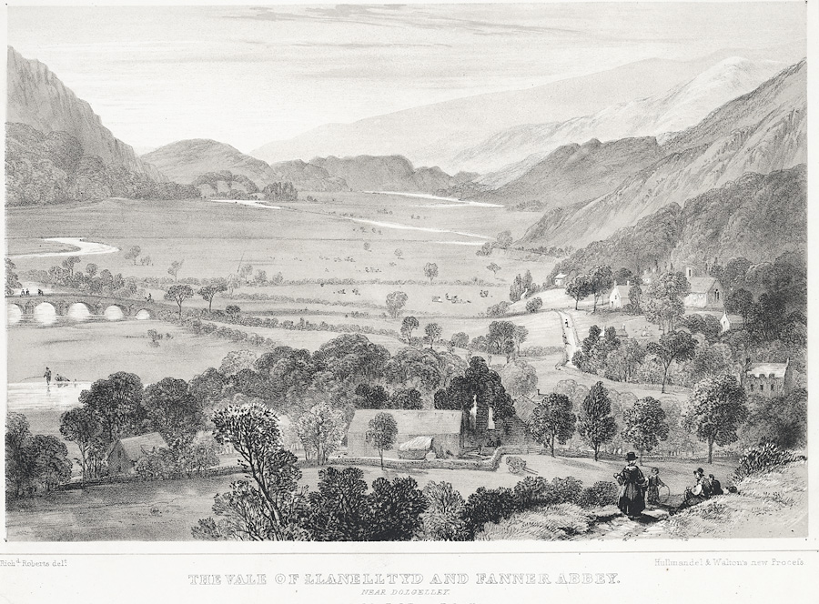 The Vale of Llanelltyd and Fanner [i.e. Cymer] Abbey near Dolgelley
