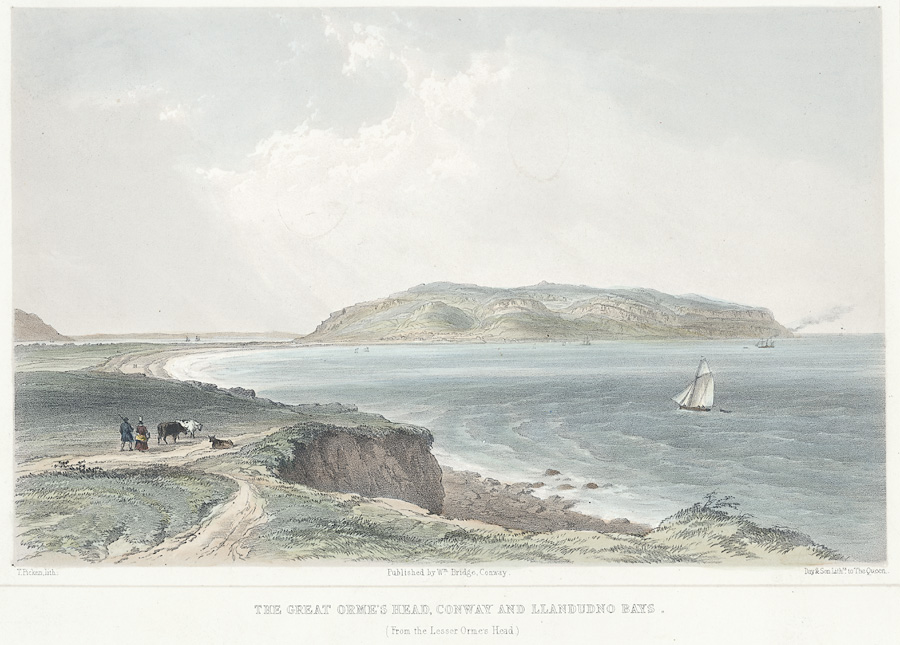 The Great Orme's head, Conway and Llandudno bays. (from the lesser Orme's head)