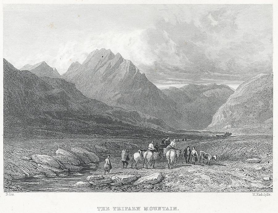 The Trifaen (Tryfan) Mountain