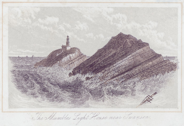 The Mumbles light house near Swansea
